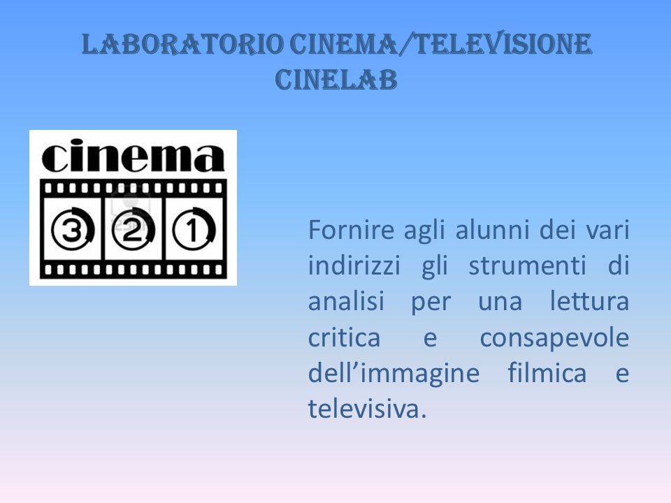Laboratorio Cinema/Televisione CINELAB
