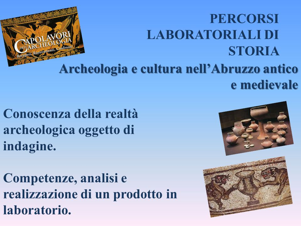 PERCORSI LABORATORIALI DI