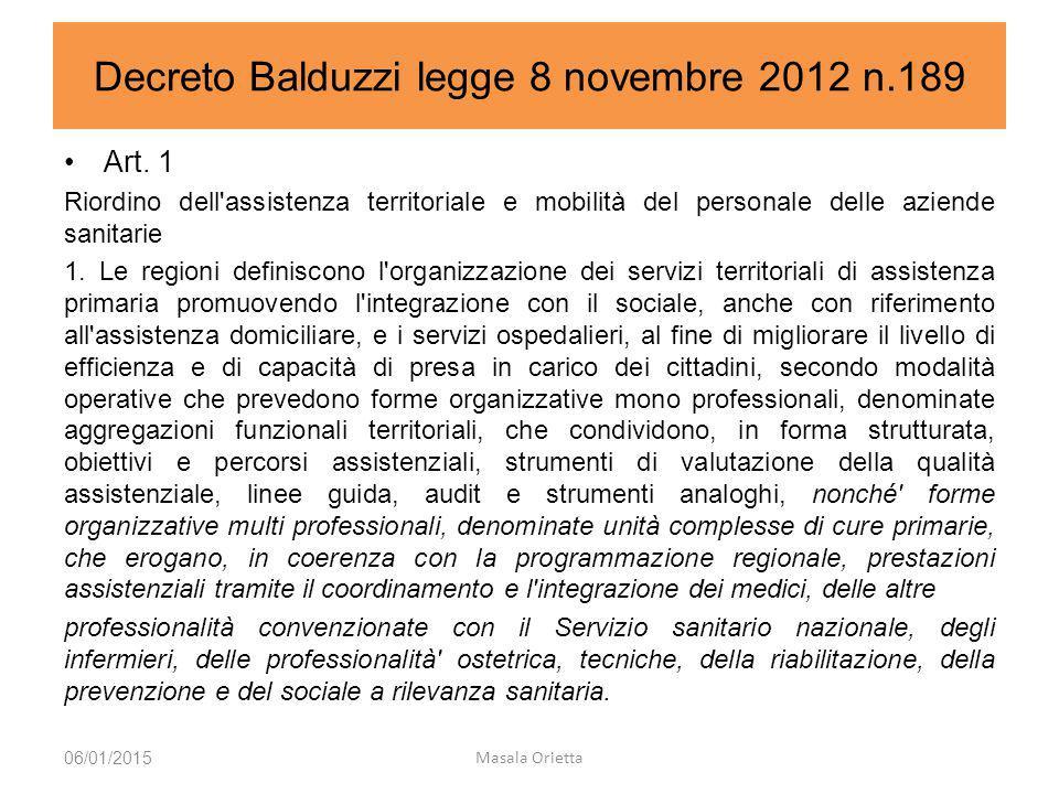 Decreto Balduzzi legge 8 novembre 2012 n.189