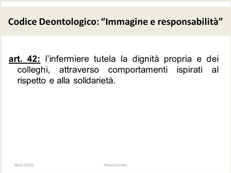 Codice Deontologico: Immagine e responsabilità