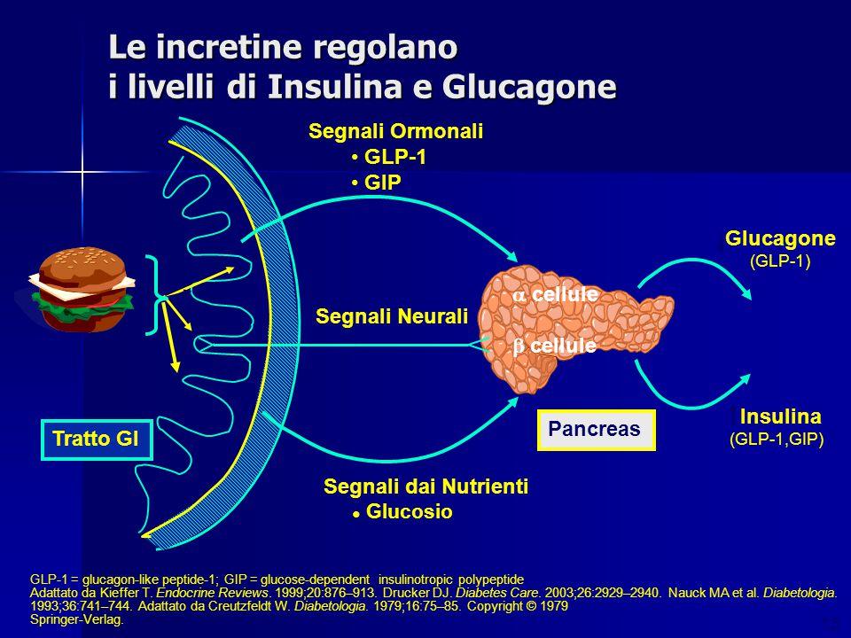 Le incretine regolano i livelli di Insulina e Glucagone