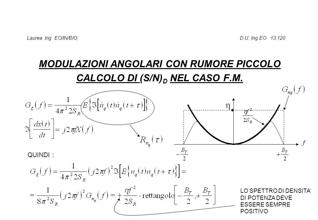 Laurea Ing EO/IN/BIO; D.U. Ing EO 13.120