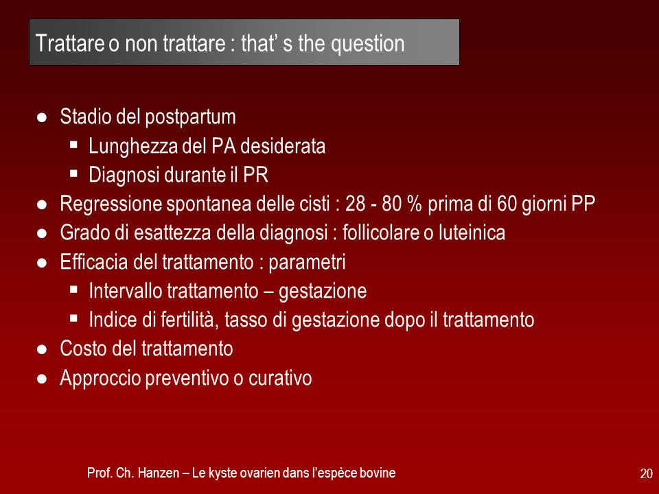 Trattare o non trattare : that' s the question