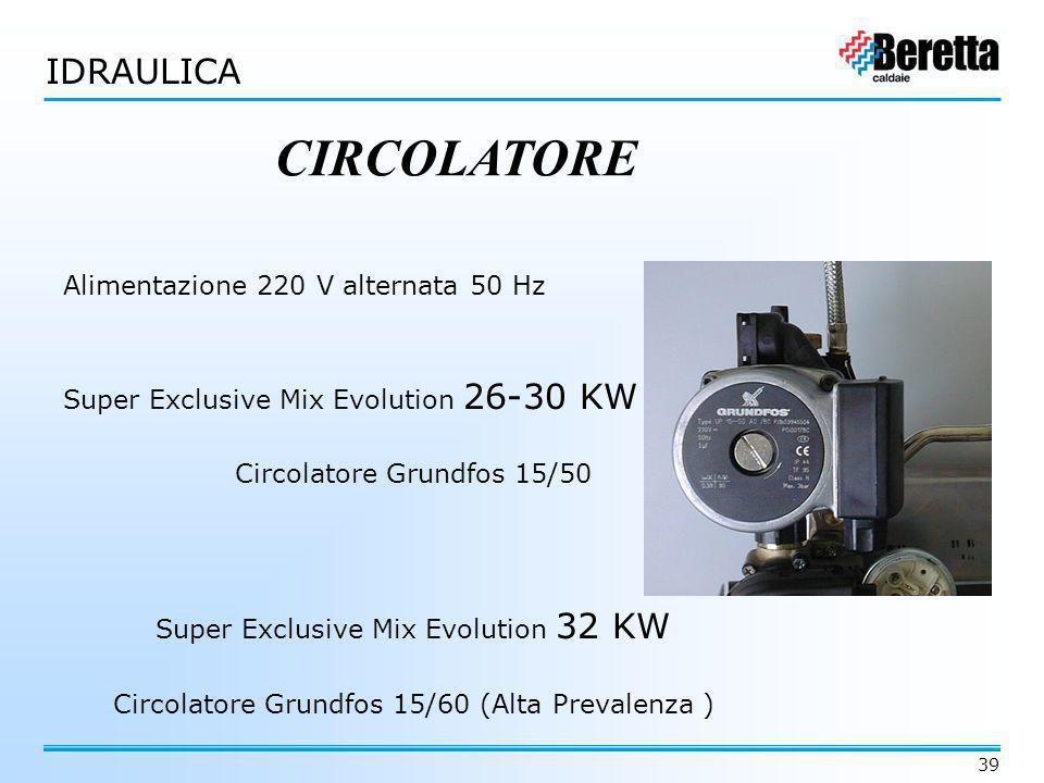 CIRCOLATORE IDRAULICA Alimentazione 220 V alternata 50 Hz