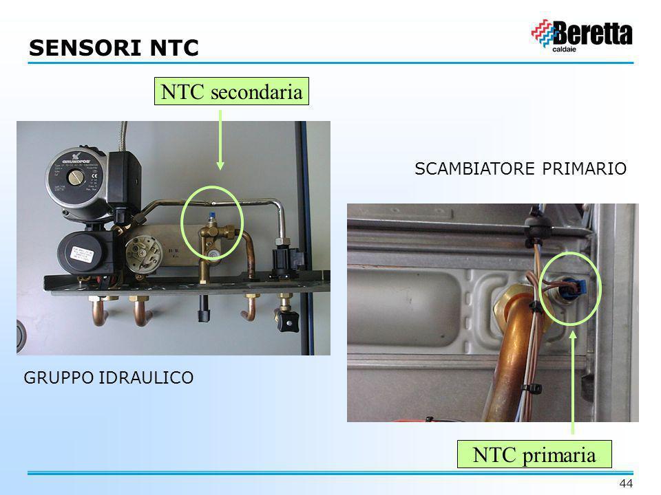 SENSORI NTC NTC secondaria NTC primaria SCAMBIATORE PRIMARIO