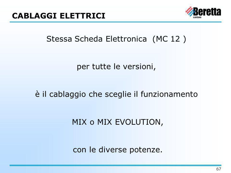 Stessa Scheda Elettronica (MC 12 )