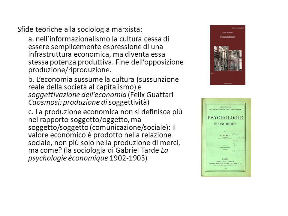 Sfide teoriche alla sociologia marxista: a