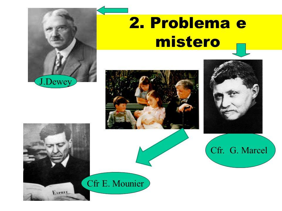 2. Problema e mistero J.Dewey Cfr. G. Marcel Cfr E. Mounier