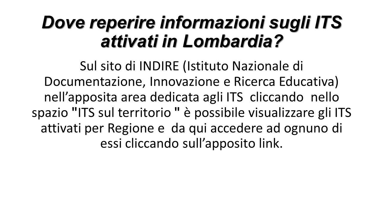 Dove reperire informazioni sugli ITS attivati in Lombardia