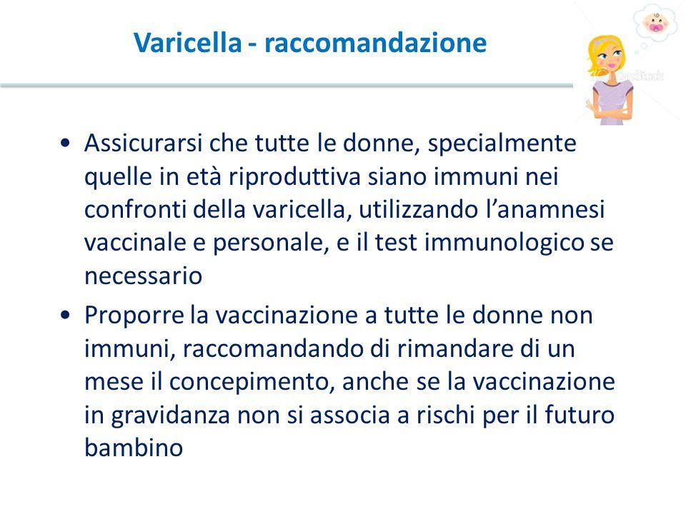 Varicella - raccomandazione