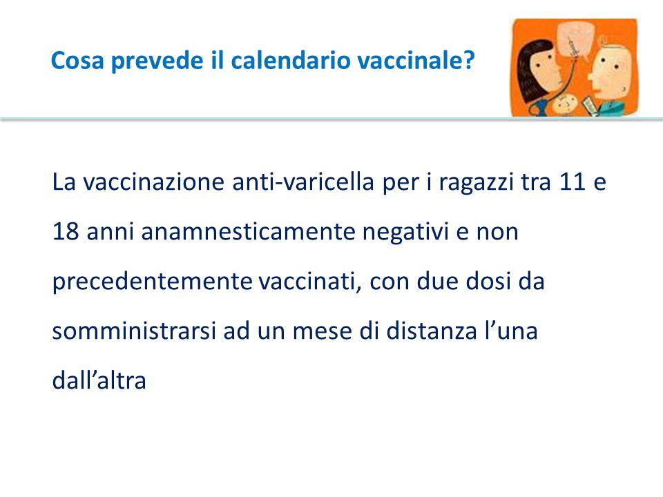 Cosa prevede il calendario vaccinale
