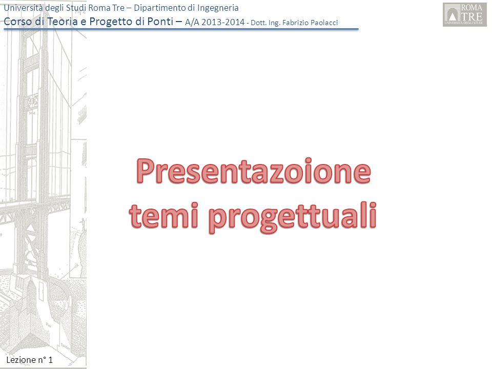 Presentazoione temi progettuali