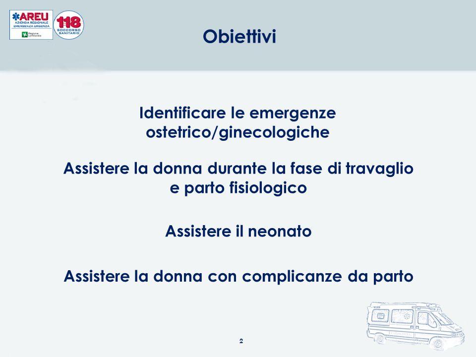 Identificare le emergenze ostetrico/ginecologiche