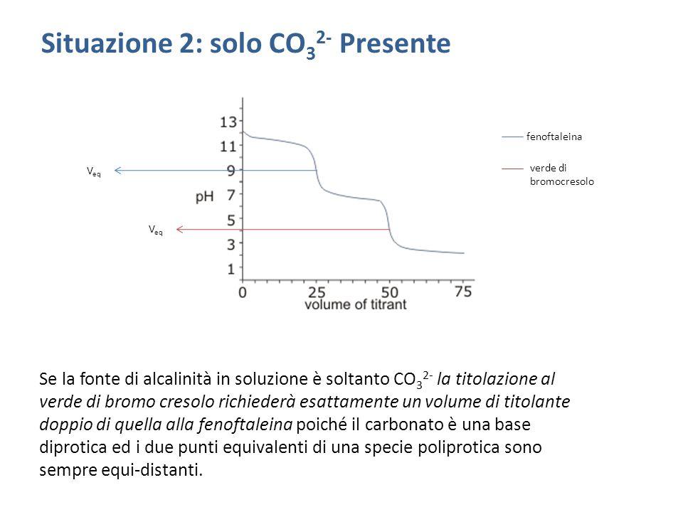 Situazione 2: solo CO32- Presente