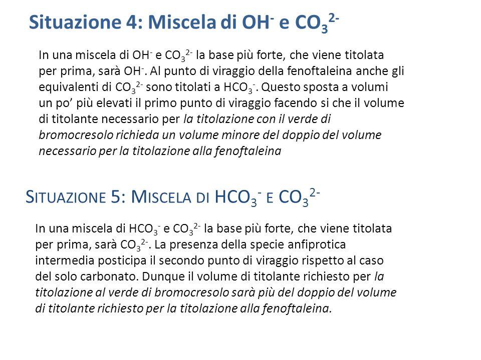 Situazione 4: Miscela di OH- e CO32-