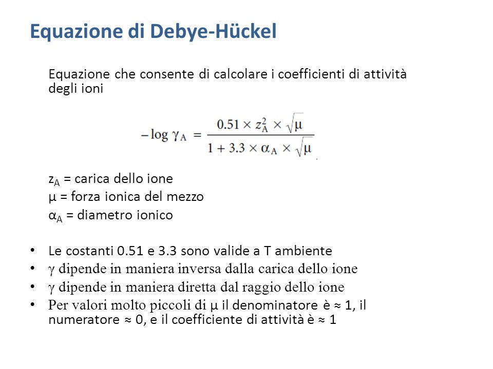 Equazione di Debye-Hückel