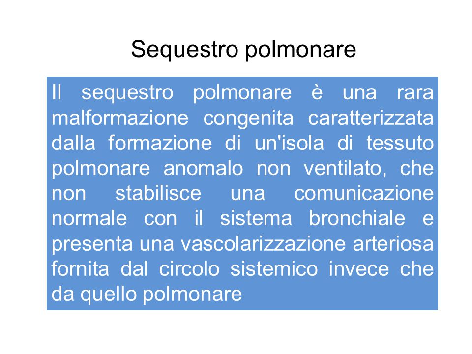 Sequestro polmonare