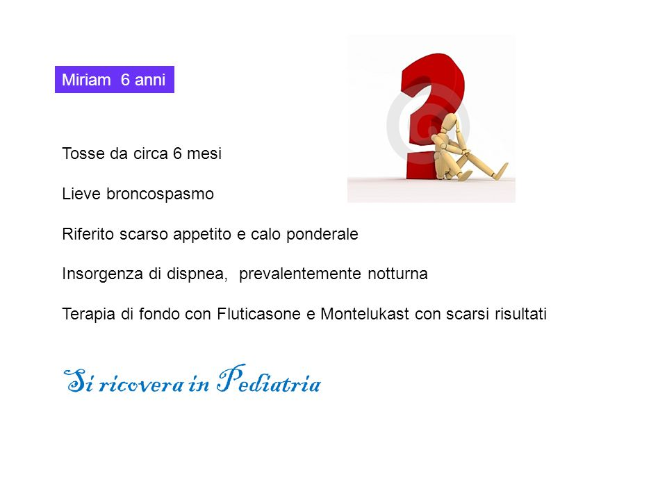 Si ricovera in Pediatria