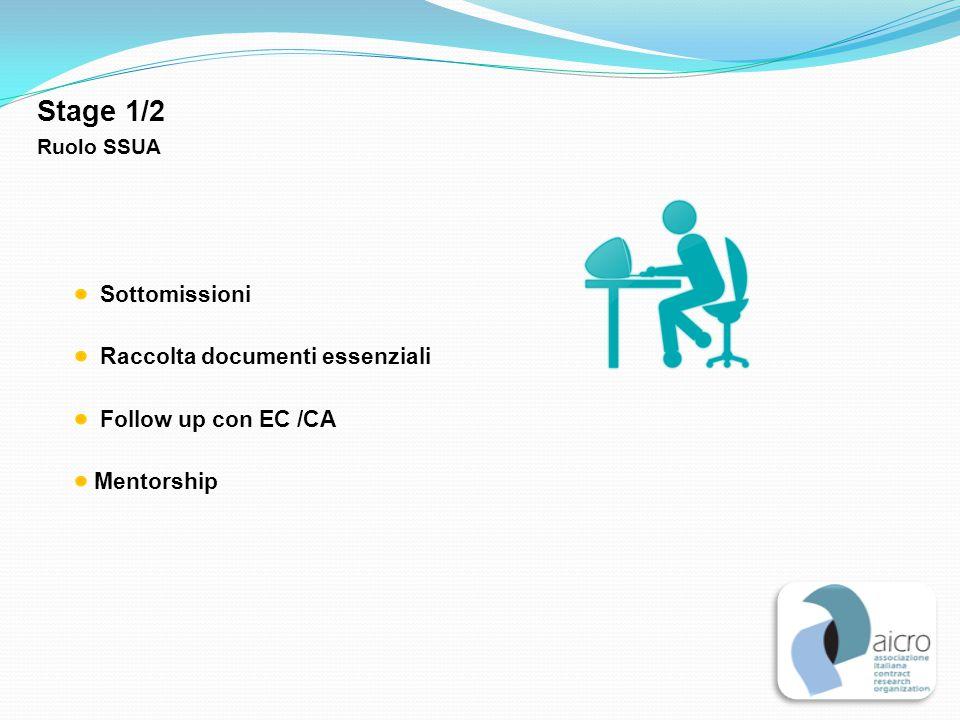 Stage 1/2 Sottomissioni Raccolta documenti essenziali