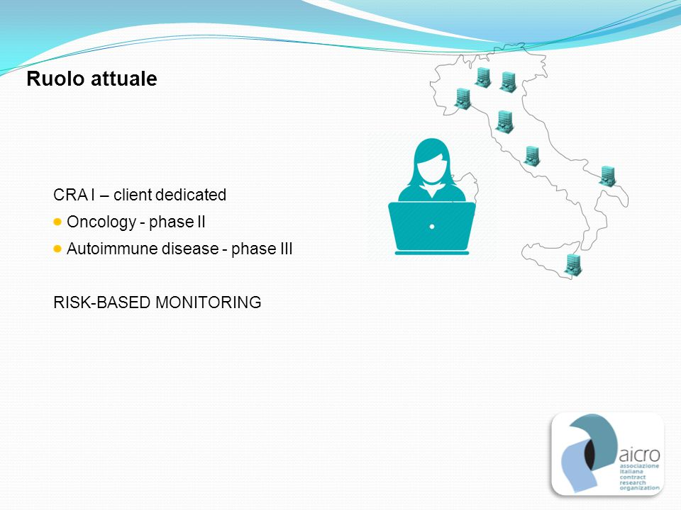 Ruolo attuale CRA I – client dedicated Oncology - phase II