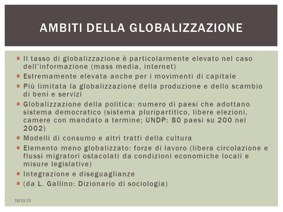 Ambiti della globalizzazione