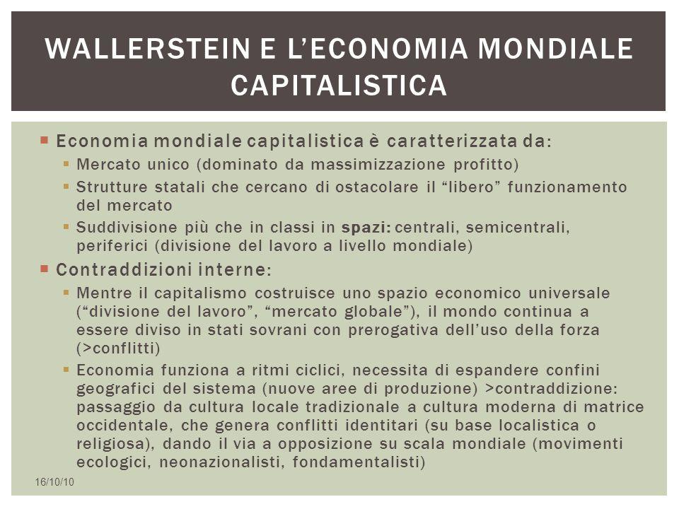 Wallerstein e l'economia mondiale capitalistica
