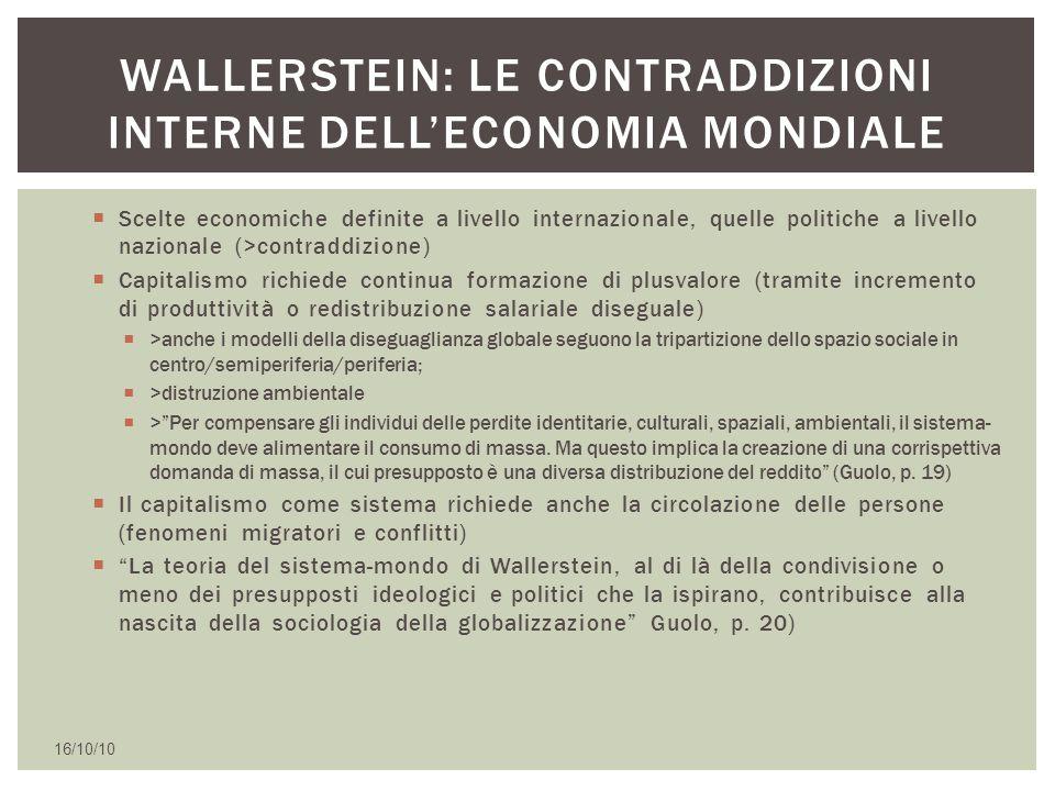 Wallerstein: le contraddizioni interne dell'economia mondiale