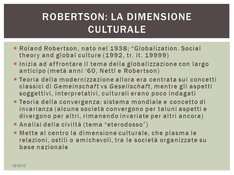 Robertson: la dimensione culturale