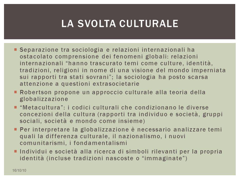La svolta culturale