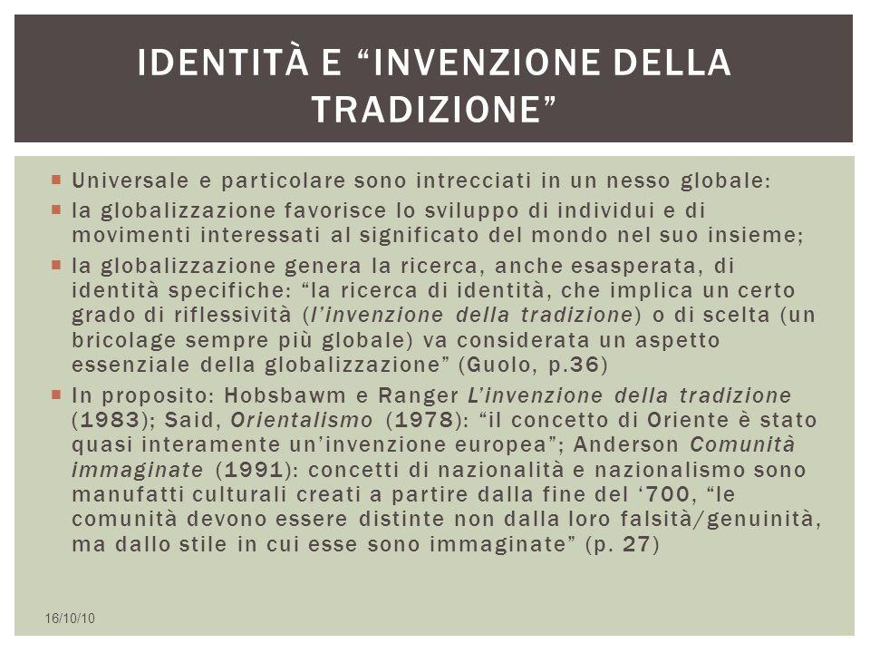Identità e invenzione della tradizione