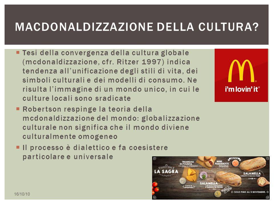 Macdonaldizzazione della cultura