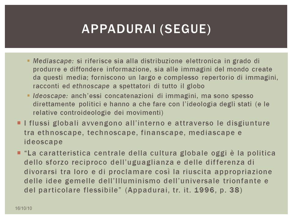 Appadurai (segue)