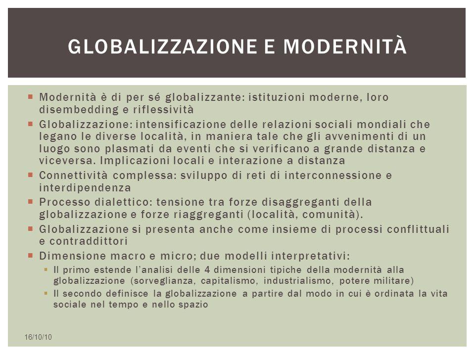 Globalizzazione e modernità