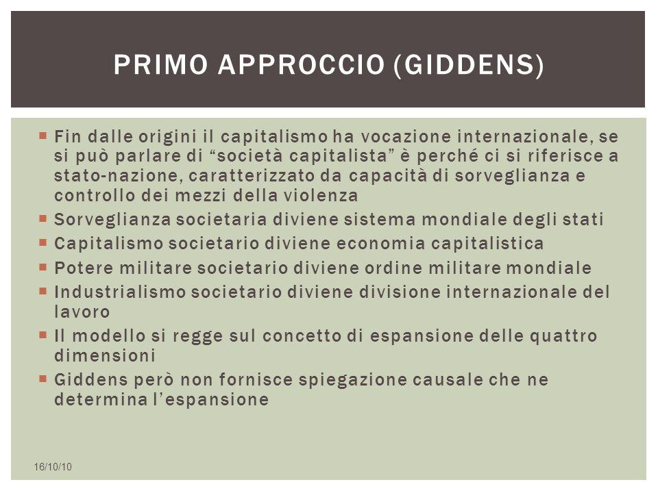 Primo approccio (giddens)