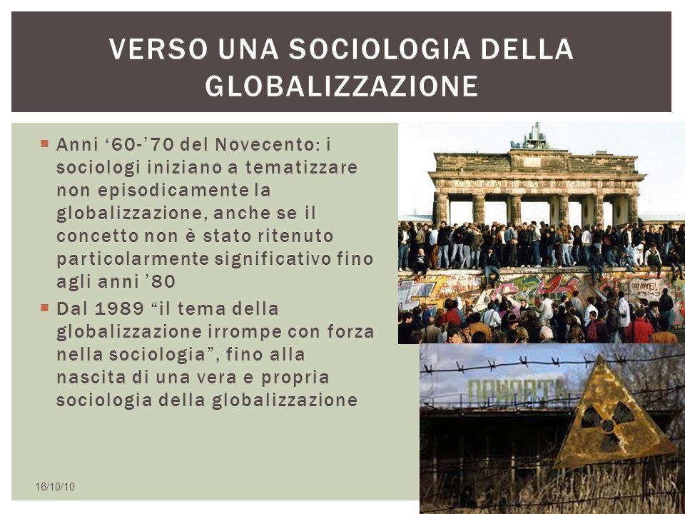 Verso una sociologia della globalizzazione