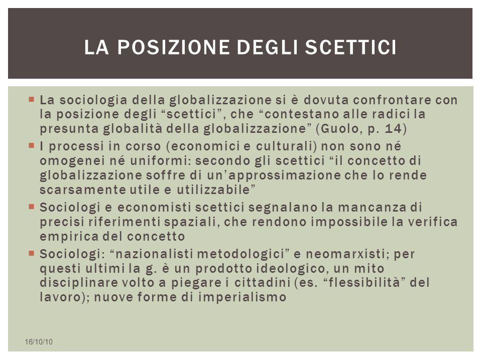 La posizione degli scettici