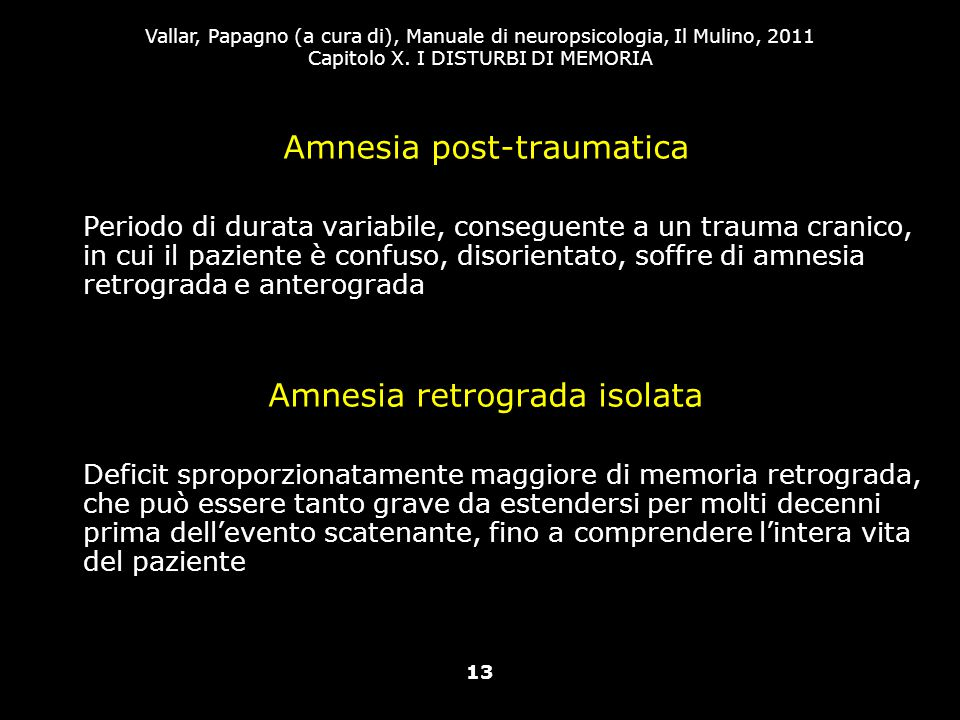 Amnesia post-traumatica