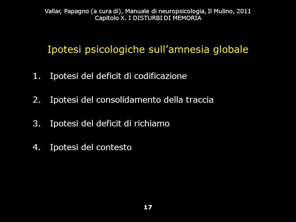 Ipotesi psicologiche sull'amnesia globale