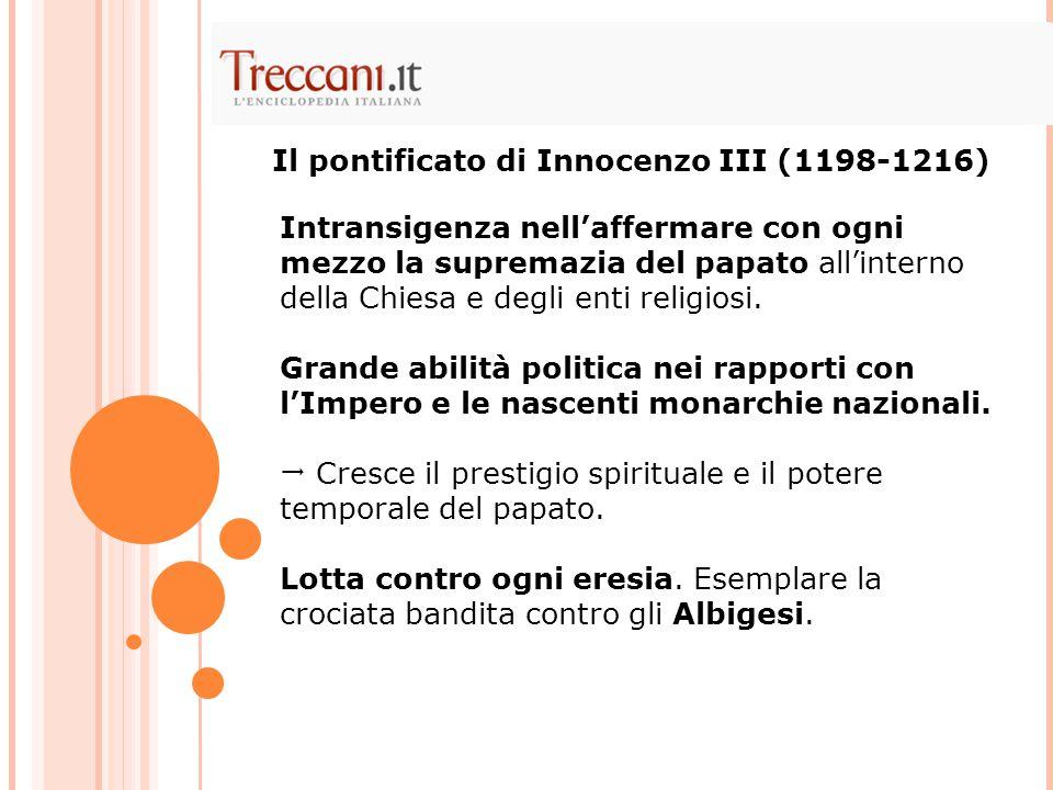 Il pontificato di Innocenzo III (1198-1216)