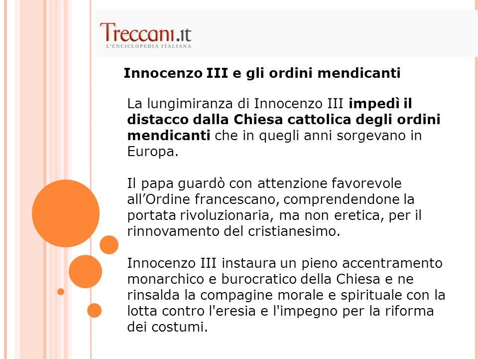 Innocenzo III e gli ordini mendicanti