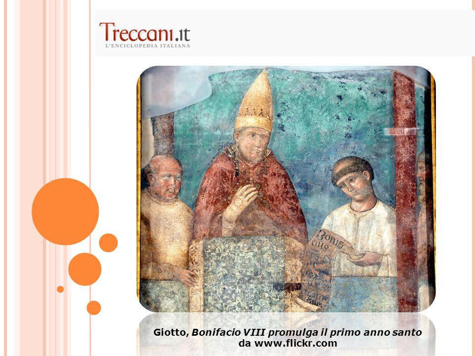 Giotto, Bonifacio VIII promulga il primo anno santo