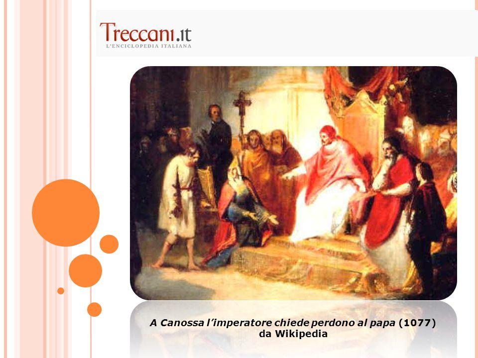 A Canossa l'imperatore chiede perdono al papa (1077)