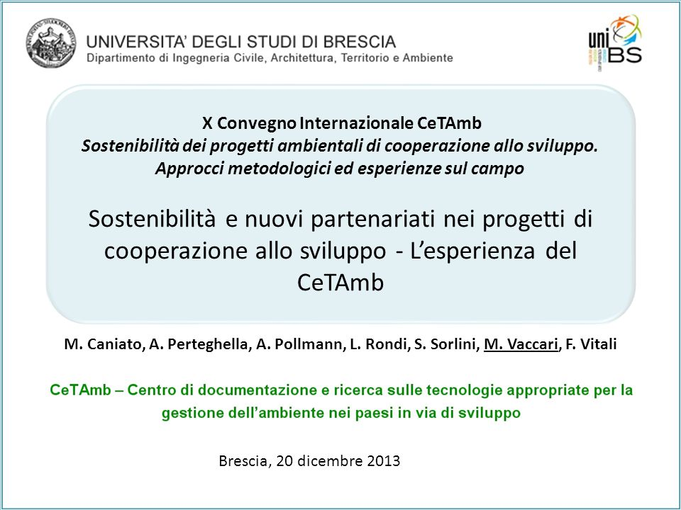X Convegno Internazionale CeTAmb