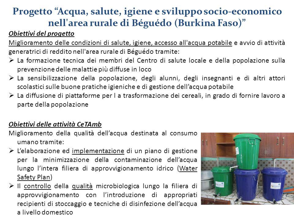 Progetto Acqua, salute, igiene e sviluppo socio-economico nell area rurale di Béguédo (Burkina Faso)