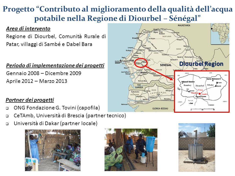 Progetto Contributo al miglioramento della qualità dell'acqua potabile nella Regione di Diourbel – Sénégal