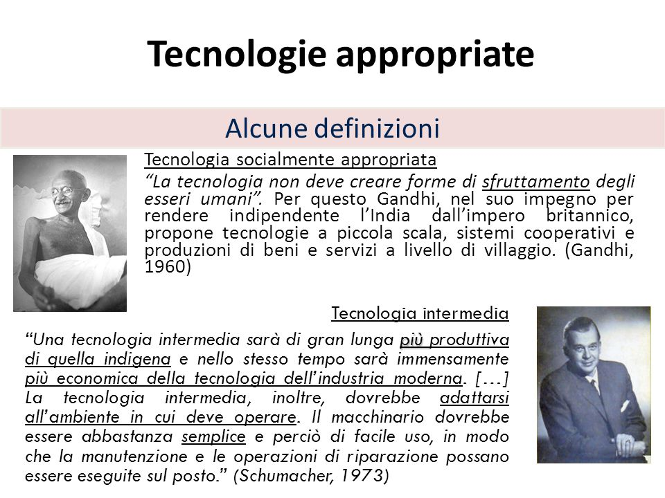 Tecnologie appropriate