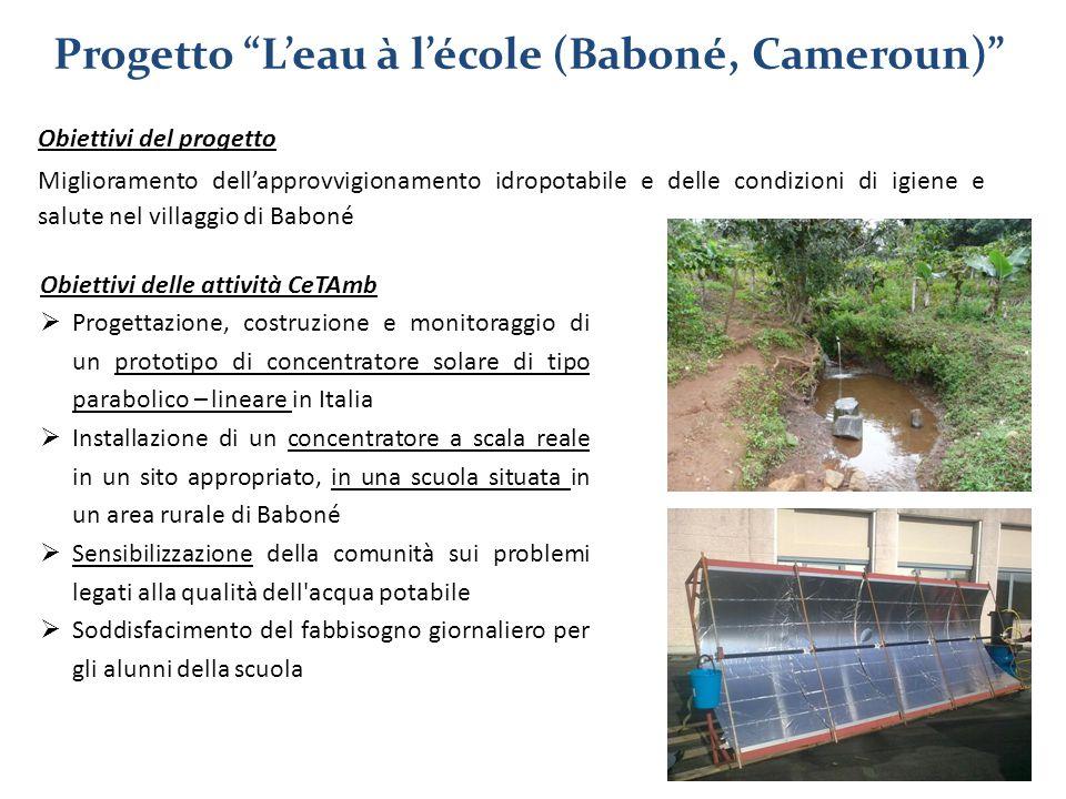 Progetto L'eau à l'école (Baboné, Cameroun)
