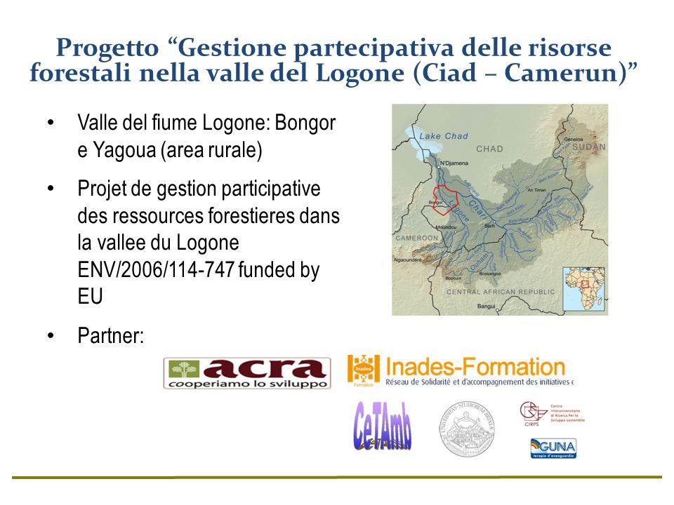 Progetto Gestione partecipativa delle risorse forestali nella valle del Logone (Ciad – Camerun)