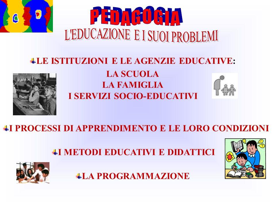I SERVIZI SOCIO-EDUCATIVI