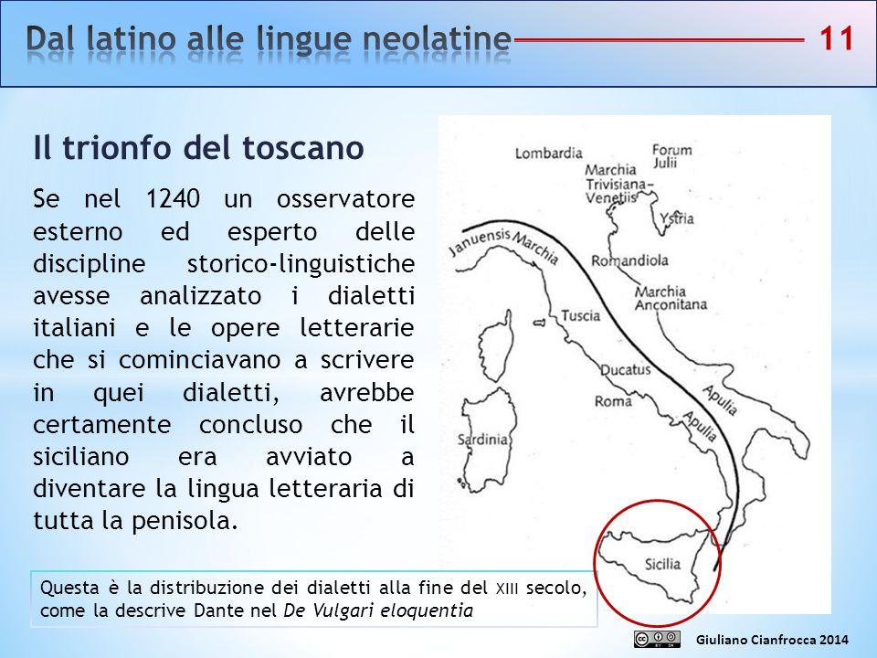 Dal latino alle lingue neolatine 11
